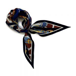 ベルト&ロープ菱型(FER-072) Marcaオリジナル シルクツイル スカーフ