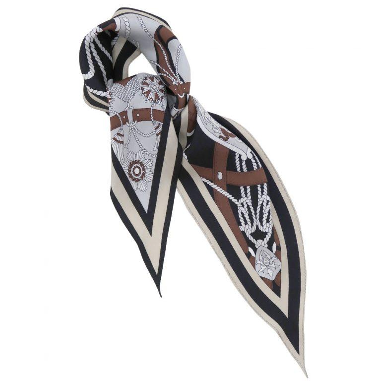 バイカラーベルト 菱形スカーフ
